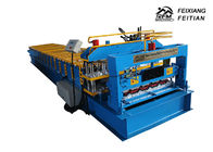 Professional Glazed Tile Roll Forming Machine PLC Control For Floor Decking