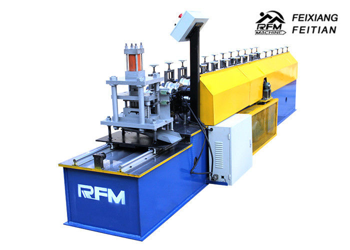 Color Steel Roller Shutter Door Roll Forming Machine / Rolling Shutter Strip Making Machine