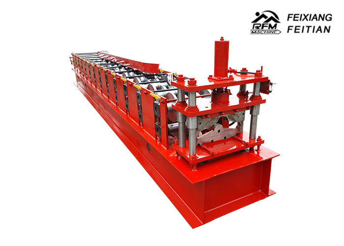 4.8 Tons Roof Ridge Cap Roll Forming Machine , Metal Steel Roof Roll Forming Machine
