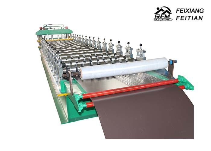 Trapezoidal Tile Roof Panel Glazed Tile Roll Forming Machine With Lamination ISO Approved