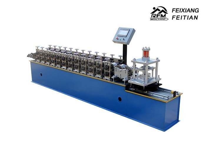 Galvalume Roller Shutter Door Roll Forming Machine / Door Slats Making Machine