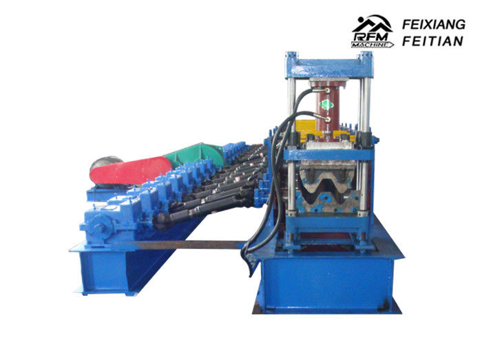 Metal Highway Guardrail Roll Forming Machine Steel Structure With PLC Control System
