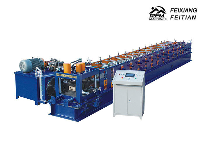 Hydraulic Automatic C Purlin Roll Forming Machine With Punching Holes
