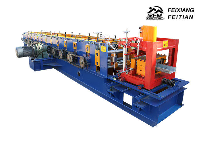 Interchangeable Size Purlin Roll Forming Machine PLC Control ISO Approved