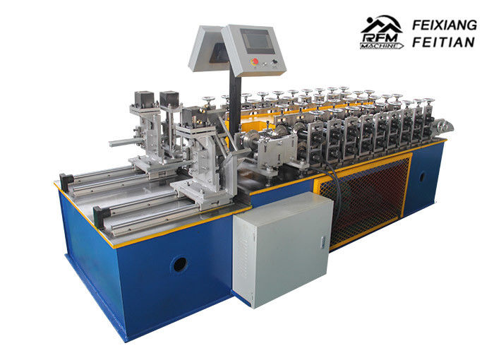 Double Line Furring Channel Roll Forming Machine PLC Control For Construction