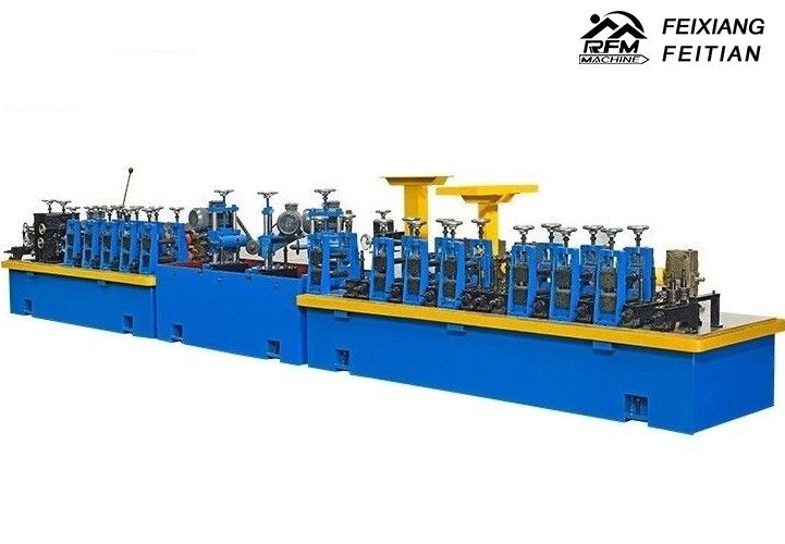 HG50 Carbon Steel Pipe Making Machine FX32 Gear Drive For Cooling Machine